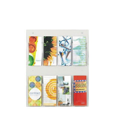 SAFCO5673CL-Clear2c™ 8 Pamphlet Display Clear SAF5673CL