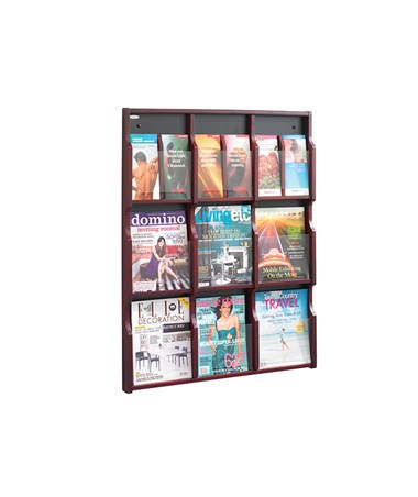 SAFCO5702-Expose 9 Magazine 18 Pamphlet Display SAF5702