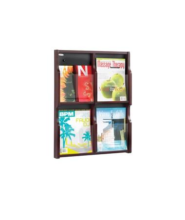 SAFCO5704-Expose 4 Magazine 8 Pamphlet Display SAF5704