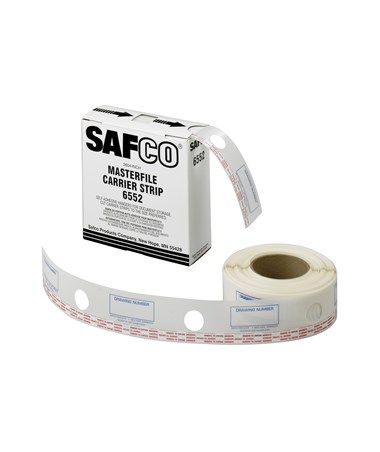 "Safco Carrier Strips for MasterFile 2, 2 ¼""W Polyester Strip SAF6552"