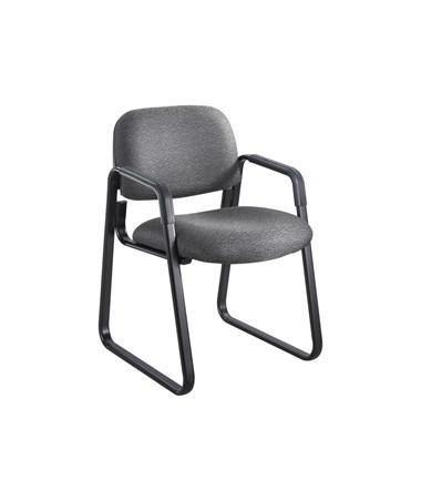 Safco Cava Urth Guest Chair Sled Base, Black 7047BL