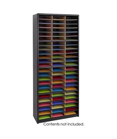 SAFCO7131-Value Sorter® Literature Organizer, 72 Compartment SAF7131