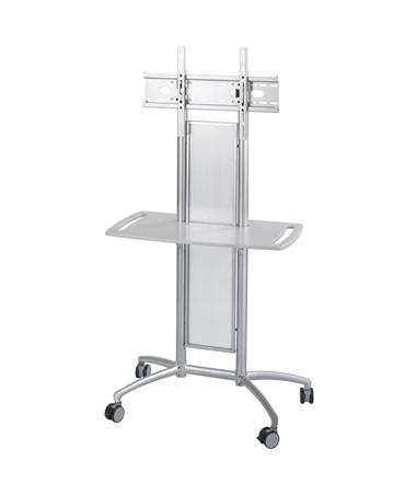 SAFCO8926GR-Impromptu® Flat Panel TV Cart Gray SAF8926GR