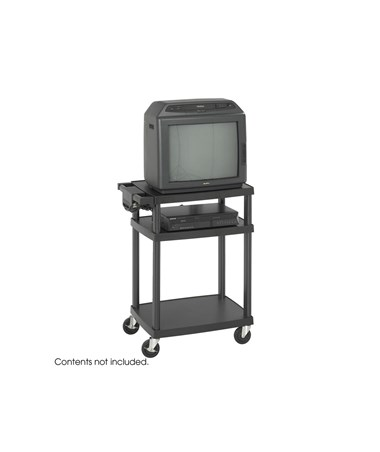 SAFCO8933BL-Adjustable Plastic AV/TV Cart SAF8933BL
