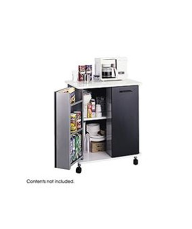 SAFCO8963BL-Refreshment Stand Black SAF8963BL