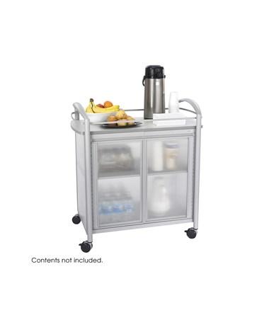SAFCO8966GR-Impromptu® Refreshment Cart Gray SAF8966GR