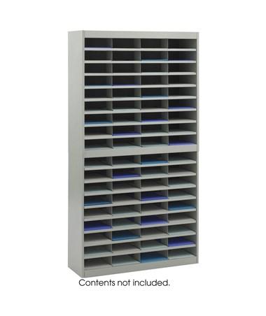 Safco E-Z Stor Literature Organizer, 72 Letter Size Compartments Gray SAF9241GRR