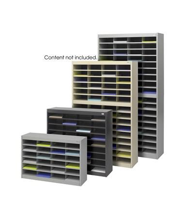 Safco E-Z Stor Literature Organizer, 72 Letter Size Compartments SAF9241