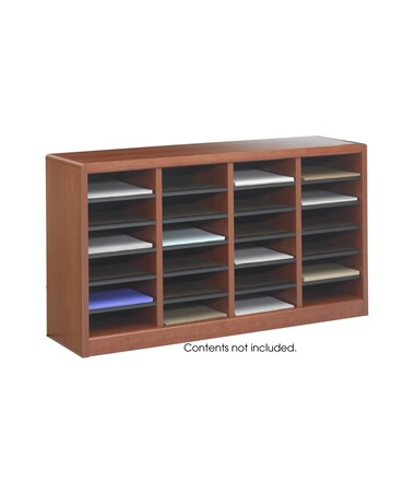 Safco E-Z Stor Wood Literature Organizer, 24 Compartments SAF9311CY-