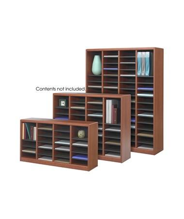 Safco E-Z Stor Wood Literature Organizer, 36 Compartments SAF9321CY-