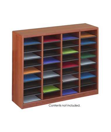 SAFCO9321-E-Z Stor® Wood Literature Organizer, 36 Compartments SAF9321