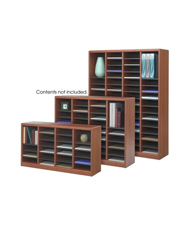 Safco E-Z Stor Wood Literature Organizer, 60 Compartments SAF9331