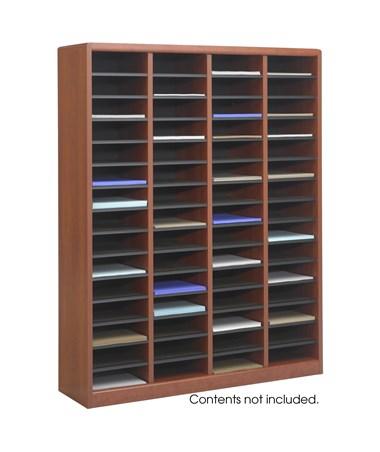 SAFCO9331-E-Z Stor® Wood Literature Organizer, 60 Compartments SAF9331