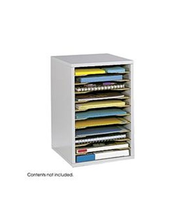 SAFCO9419-Vertical Desk Top Sorter - 11 Compartment SAF9419