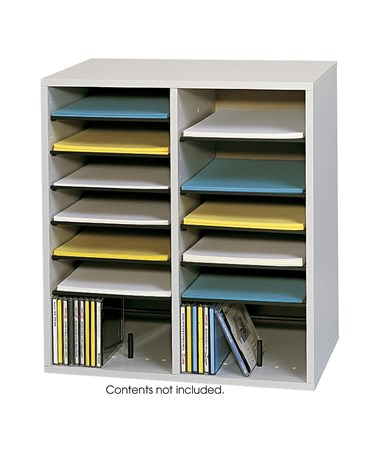 Safco Wood Adjustable Literature Organizer SAF9422