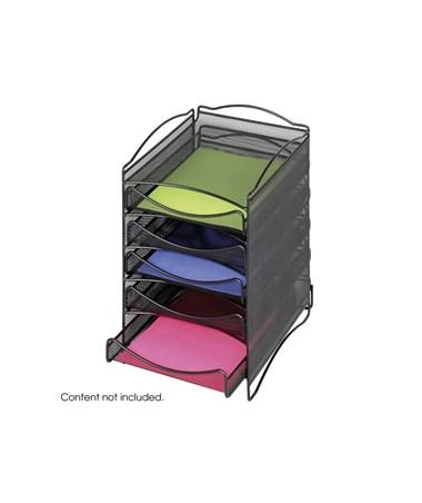 SAFCO9432Bl-Onyx™ 5 Drawer Mesh Literature Organizer Black SAF9432BL