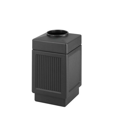 Safco 38 Gallon Canmeleon Recessed Panel Waste Receptacle, Top Open SAF9475BL-