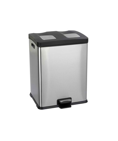 Safco 15 Gallon Right-Size Recycling Station SAF9634SS