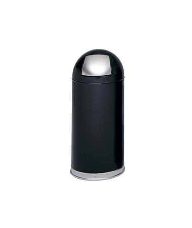 Safco Push Door Dome Top Receptacles, 15 Gallons SAF9636BL-