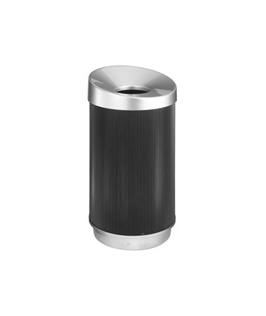 Safco At-Your-Disposal Vertex Waste Receptacle, 38 Gallons SAF9799BL
