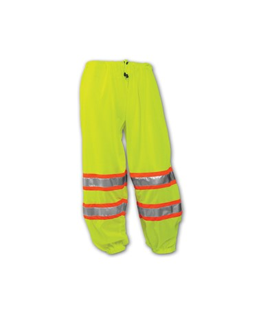 Class E Two-Tone High Visibility Pants Fluorescent Yellow - Greeen