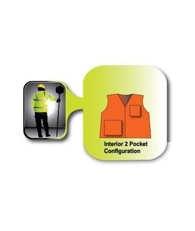 Hook and loop mesh safety vest interior 2 Pocket configuration