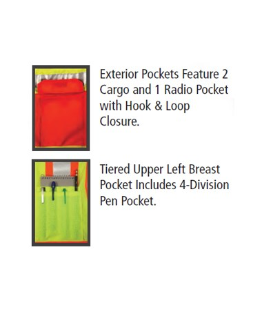 Pocket Detail for the surveyor vest