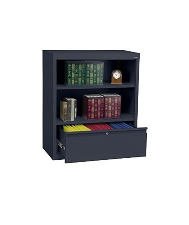 Sandusky Lee Bookcase with File Drawer