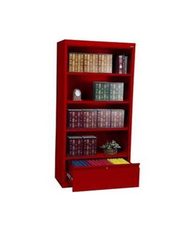 With Three Shelves - Red