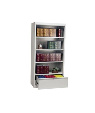 With Three Shelves - Dove Gray