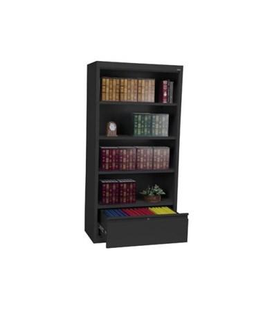 With Three Shelves - Black