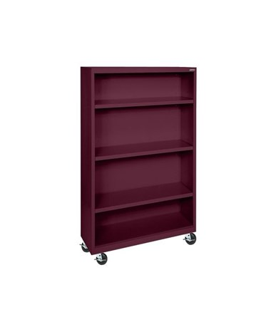 With Three Shelves - Burgundy