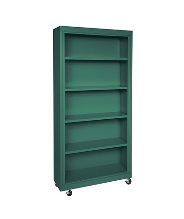 With Four Shelves - Forest Green