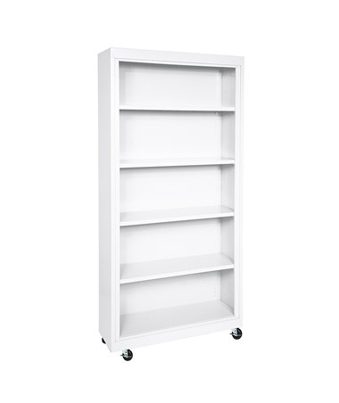 With Four Shelves - White