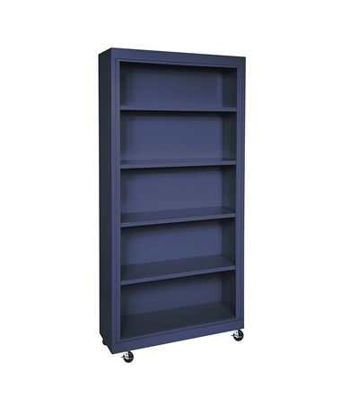 With Four Shelves - Navy Blue
