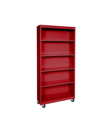 With Four Shelves - Red