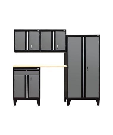 5-Piece Set - Black/Charcoal