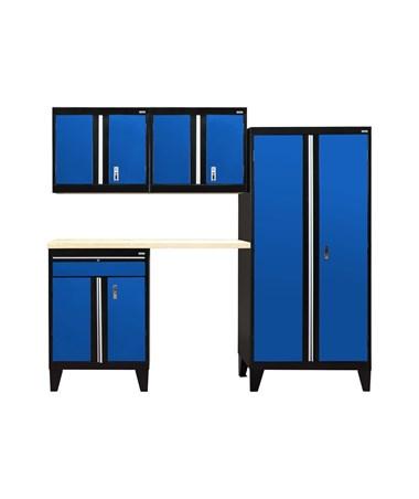 5-Piece Set - Black/Blue