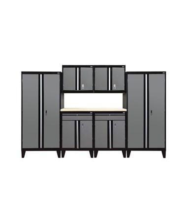7-Piece Set - Black/Charcoal