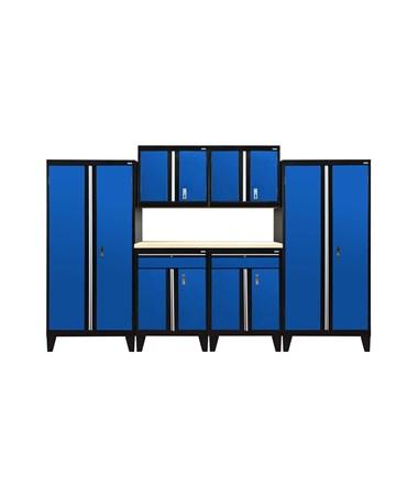 7-Piece Set - Black/Blue