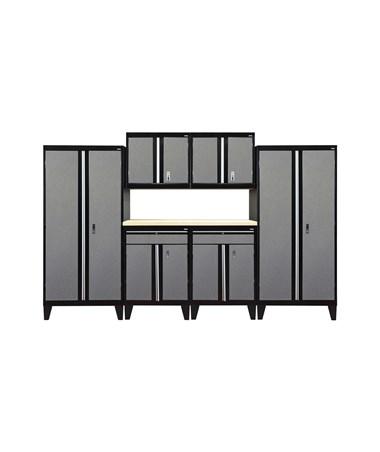 7-Piece Set - Black/Multi Granite