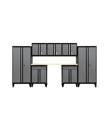 8-Piece Set - Black/Charcoal