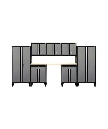 8-Piece Set - Black/Multi Granite