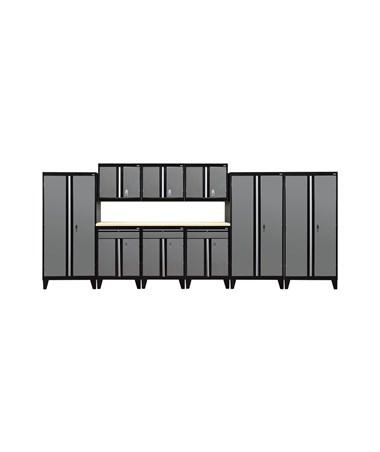 10-Piece Set - Black/Charcoal
