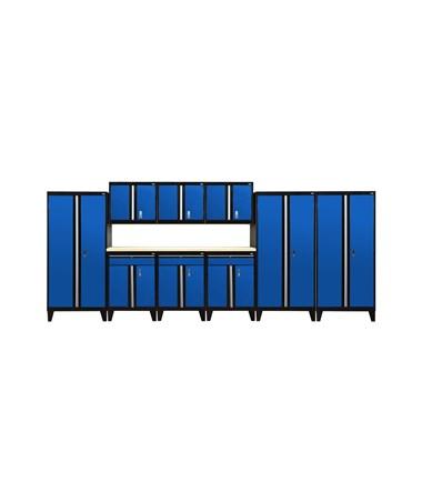 10-Piece Set - Black/Blue