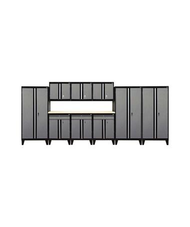 10-Piece Set - Black/Multi Granite
