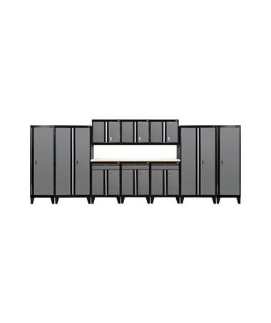 11-Piece Set - Black/Charcoal