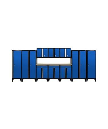 11-Piece Set - Black/Blue