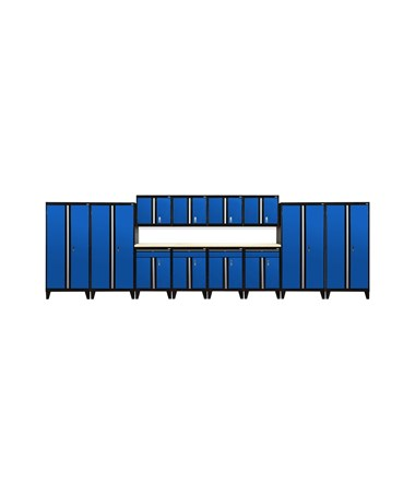 14-Piece Set - Black/Blue