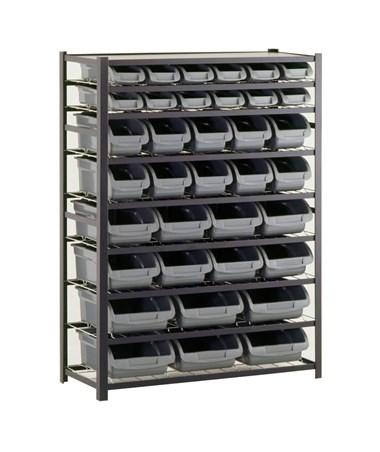8 Shelves and 36 Bins